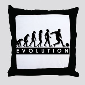 Evolution of a Soccer Player Throw Pillow