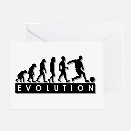 Evolution of a Soccer Player Greeting Card