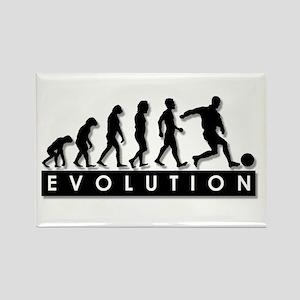 Evolution of a Soccer Player Rectangle Magnet