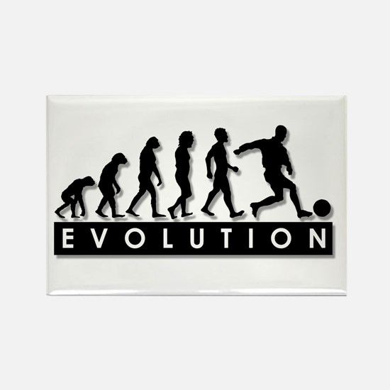 Evolution of a Soccer Player Rectangle Magnet