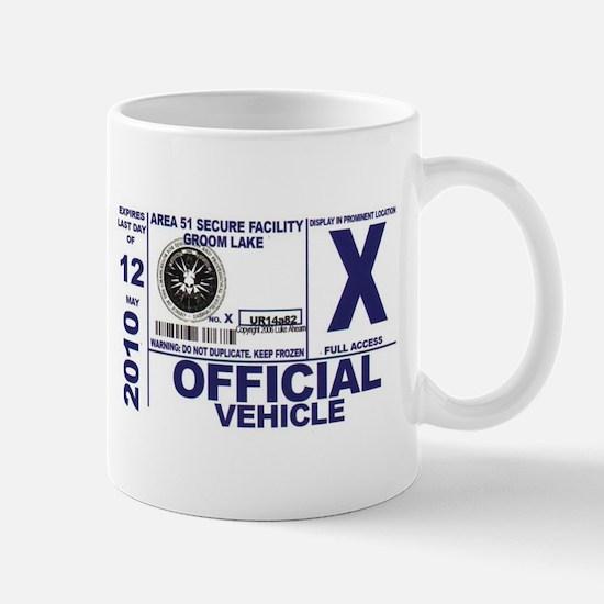 Area 51 Parking Pass Mug