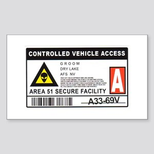 Area 51 Controlled Parking Pa Sticker (Rectangle)