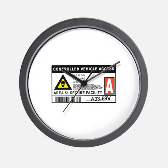 Area 51 Controlled Parking Pa Wall Clock