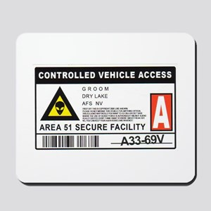 Area 51 Controlled Parking Pa Mousepad