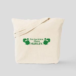 Luckier than Hurley Tote Bag