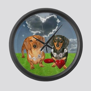 Hearts Large Wall Clock