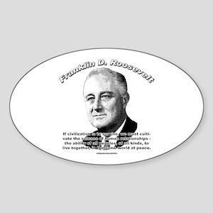 Franklin D. Roosevelt 01 Oval Sticker