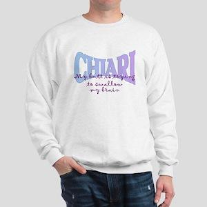 ButtSwallowing Brain Sweatshirt