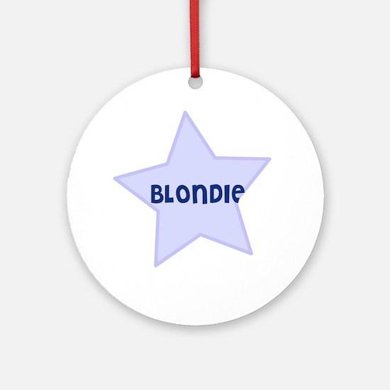 Blondie Ornament (Round)