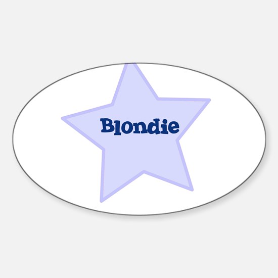 Blondie Oval Decal