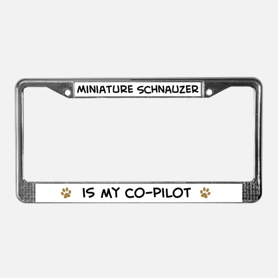 Co-pilot: Miniature Schnauzer License Plate Frame