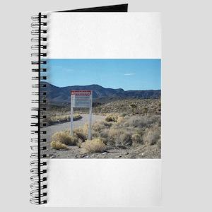 Warning Sign on Groom Lake Ro Journal