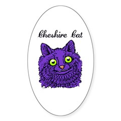 Cheshire Cat Sticker (Oval 50 pk)