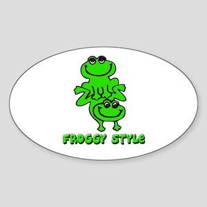 Froggy style Sticker (Oval)