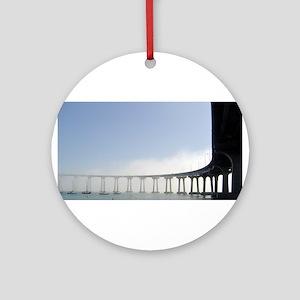 Coronado Bridge Ornament (Round)
