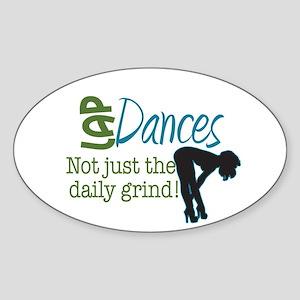 Daily Grind Stripper Sticker (Oval)