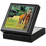 Horses Inlaid Tile Keepsake Box