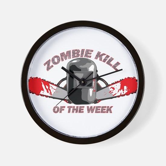 Zombie Kill Of The Week Wall Clock