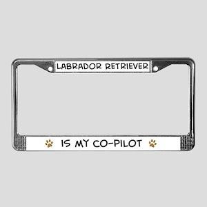 Co-pilot: Labrador Retriever License Plate Frame