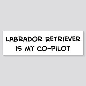 Co-pilot: Labrador Retriever Bumper Sticker
