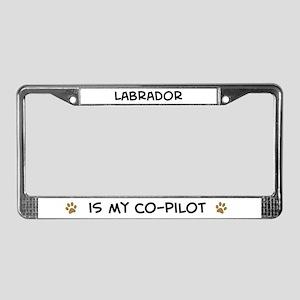 Co-pilot: Labrador License Plate Frame