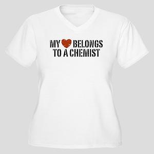 My Heart Belongs To A Chemist Women's Plus Size V-