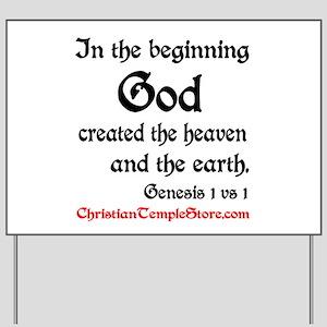 In The Beginning Genesis 1:1 Yard Sign
