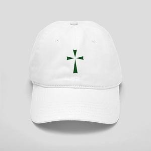 Modern Cross (Green) Cap