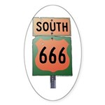 Route 666 Sticker (Oval)