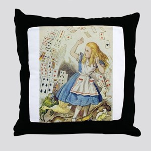 The Shower of Cards Throw Pillow