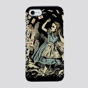 vintage-alice-cards-flying_b iPhone 7 Tough Ca