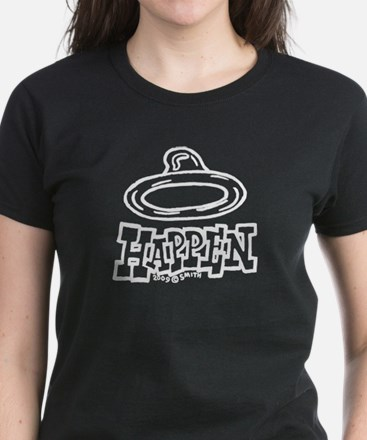 Condoms Happen (left) Women's Dark T-Shirt