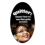 Quitter Sticker (Oval)