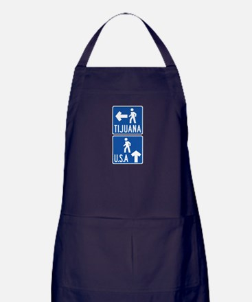 Cute American mexican border Apron (dark)