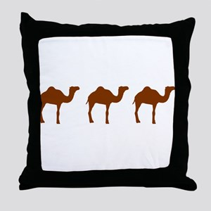 Camels Throw Pillow