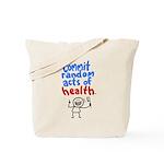HealthRock tote bag- Commit Random Acts of Health