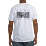 Chicago Manhole Fitted T-Shirt