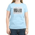 Chicago Manhole Women's Pink T-Shirt