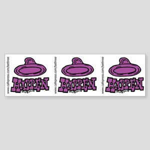 Condoms Happen (left) Sticker (Bumper)