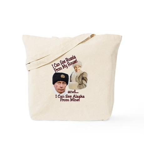 Putin and Palin Tote Bag