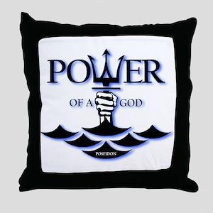 Power of Poseidon Throw Pillow