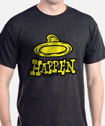 Condoms Happen (left) T-Shirt