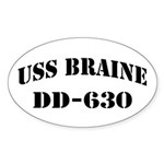 USS BRAINE Sticker (Oval)