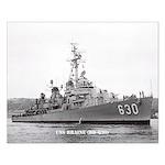 USS BRAINE Small Poster