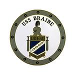 """USS BRAINE 3.5"""" Button"""