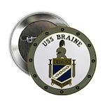 """USS BRAINE 2.25"""" Button"""