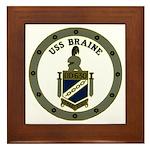 USS BRAINE Framed Tile