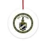 USS BRAINE Ornament (Round)