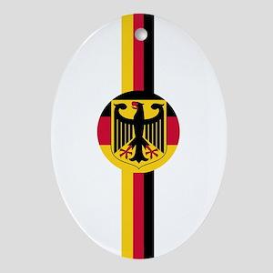 Germany Soccer Fussball SV de Ornament (Oval)