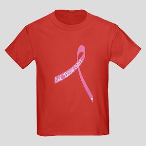 One Tough Chick Ribbon Kids Dark T-Shirt